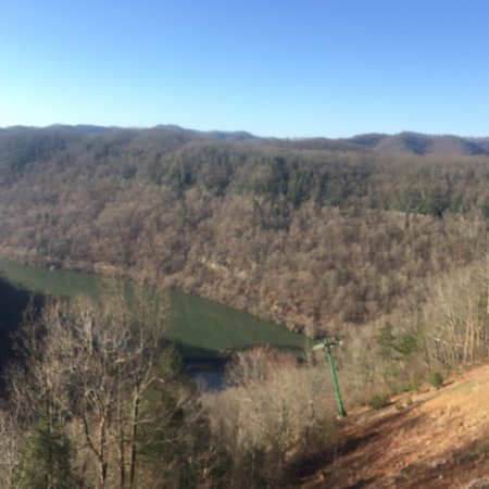 Ansted, Virginia Occidental: View from our room deck at the Hawks Nest Lodge