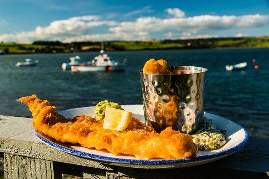 Courtmacsherry, Ireland: Haddock, Hand Cut Chips & Home Made Tartar Sauce