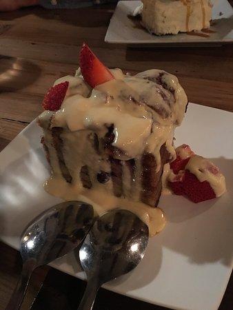 Corrales, NM: bread pudding