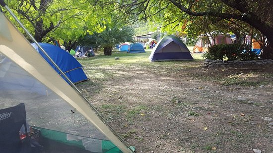 Hidalgo, México: Área de camping y casa grande