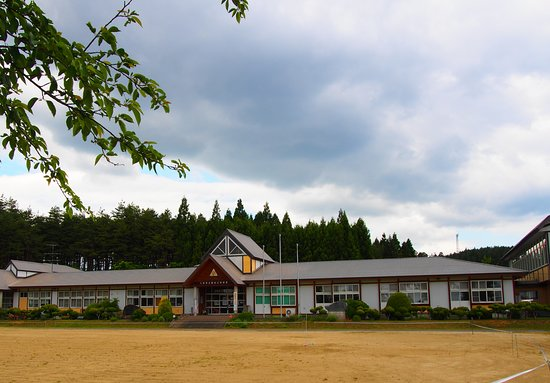 Kuji, Japon : 廃校になった旧市立麦生(むぎょう)小中学校校舎の全館を利用し、2011年に設立された芸術村です。