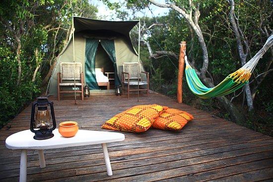 Provincia de Inhambane, Mozambique: semi luxury tent