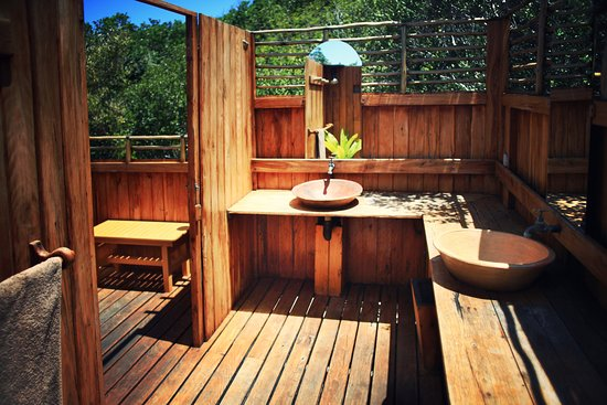 Inhambane Province, โมซัมบิก: Bathroom in the bushcamp