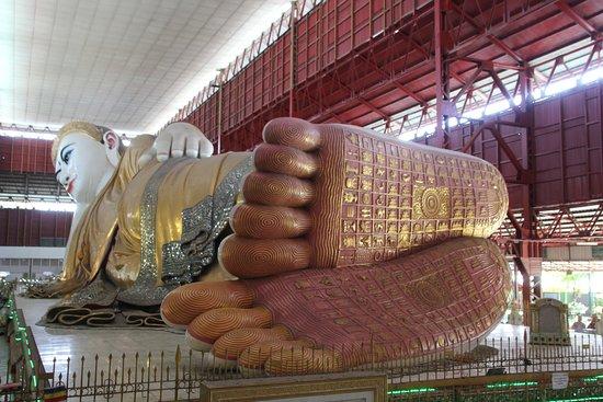 Chaukhtatgyi Buddha: Vue de l'estrade
