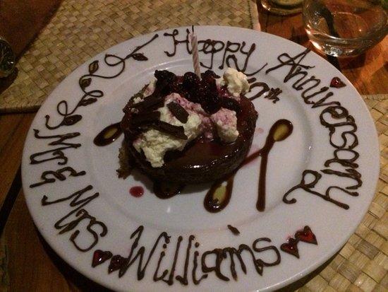 Coral Coast, Fidschi: A wonderful surprise dessert!