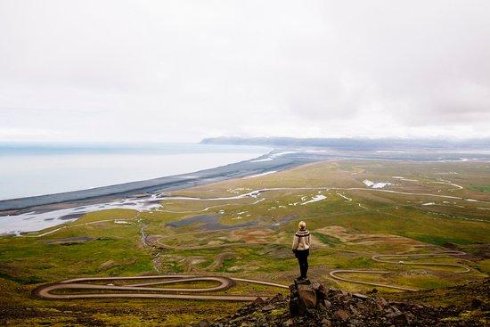 Vopnafjordur, Islândia: View from Hellisheidi Eystri over Heradsflói bay