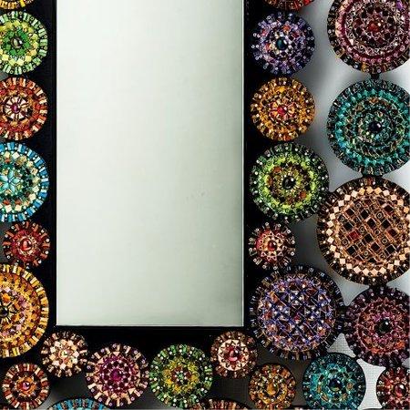 Specchio mosaico tessere stile moderno
