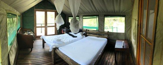 Manyeleti Game Reserve, África do Sul: Innenansicht Gästezelt
