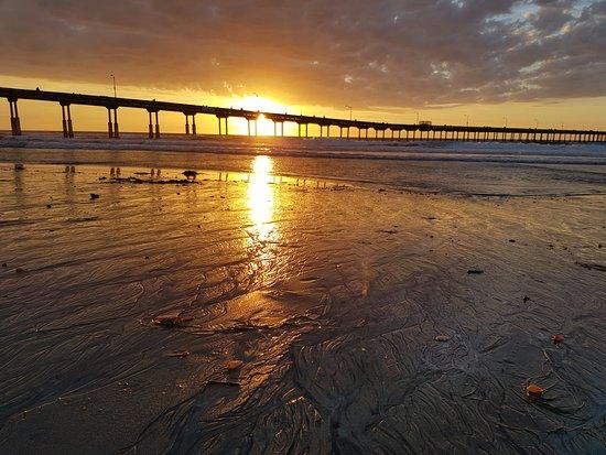 ocean beach sunset サンディエゴ オーシャンビーチの写真 トリップ