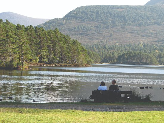 Aviemore, UK: Taking in the views of Loch an Eilein