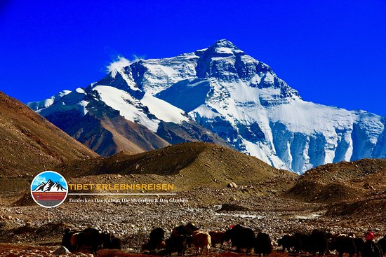 Lhasa, China: Mt.Everest, the highest mountain on the earth 8844m