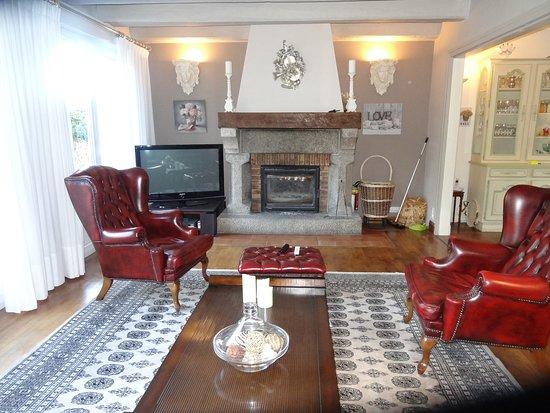 La Villa les Hortensias: une pièce chaleureuse, le salon.