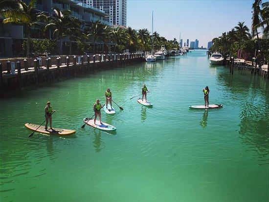 Tksmiami Paddleboard Tour In Sunset Harbour Miami Beach