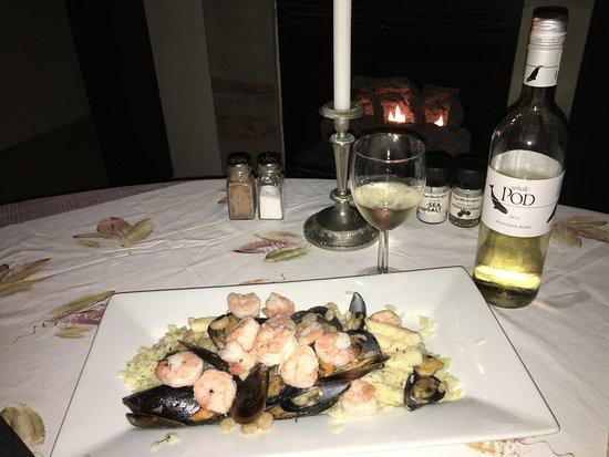 De Kelders, South Africa: Abendessen - Fischplatte