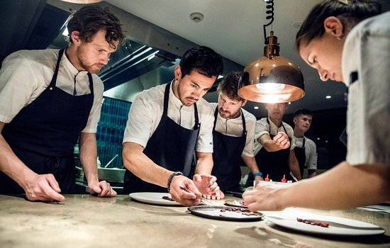 Studio - The Standard: Damian in the middle -  Head Chef