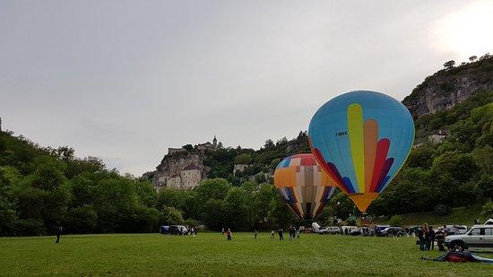 Alvignac, Prancis: Visite de Rocamadour avec envol des mongolfières!