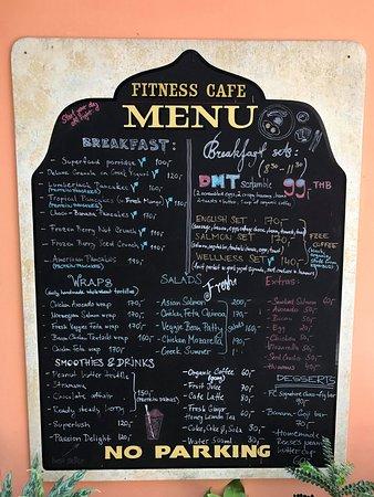 Fitness Cafe: Menükarte