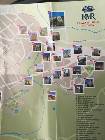 Map Of Ronda Spain Picture Of Old City Ronda Tripadvisor
