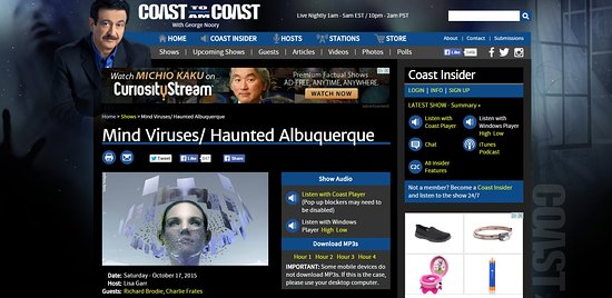 Featured on Coast to Coast Radio! - Picture of History and Ghost