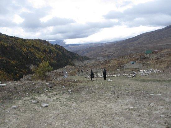Chechnya, Russland: село ХОЙ, краски осени