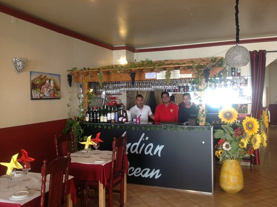 Indian Ocean : The Owner & staff inside the restaurant.