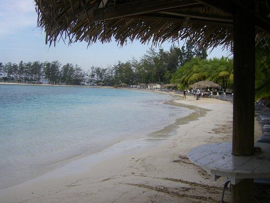 Fantasy Island Beach Resort: Plusieurs endroits ombragés soit sous les cocotier ou palapas