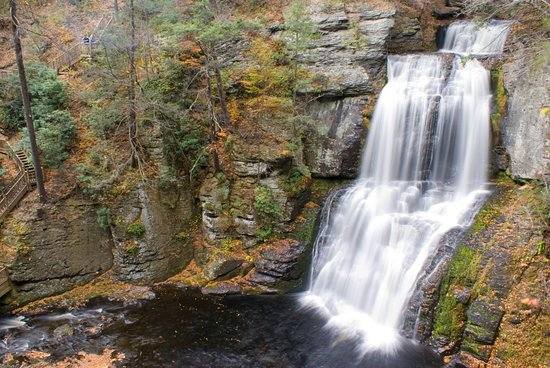 Fall colors at Bushkill Falls