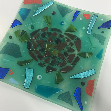 Shrewsbury, UK: Beginners Fusing Day - students work