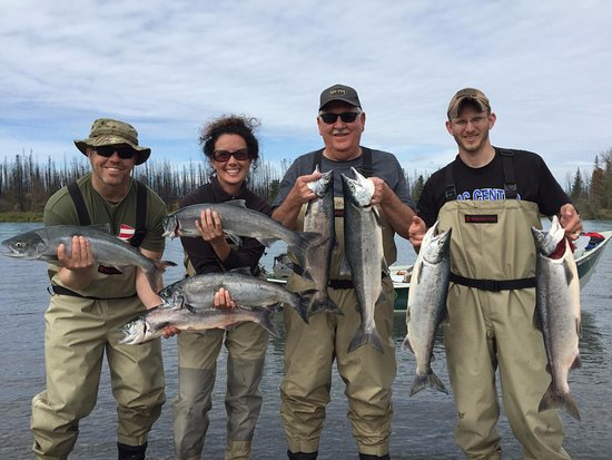 Soldotna, AK: Family fun during the peak of the Red Salmon run in July.