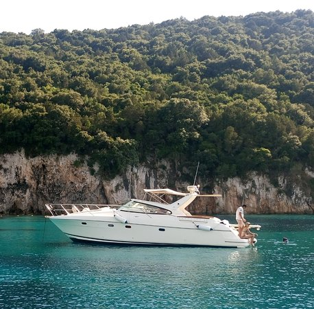 Syvota, Greece: Rent our Jeanneau Prestige 34 - M/Y ORCA BIANCA and shape a lifelong memory.