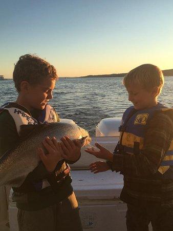 The kids getting in on the salmon fun!