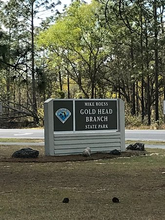 Keystone Heights, FL: Entrance to Mike Roess Gold Head Branch State Park
