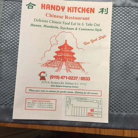 Handy Kitchen Menu Durham Nc