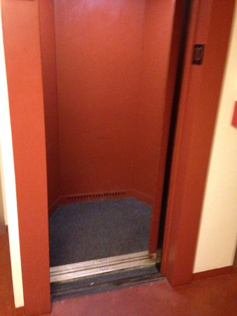 Bartlesville, OK: small elevator, not for the claustrophobic!