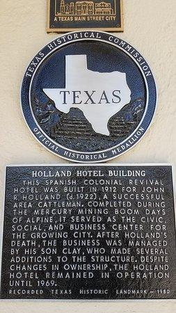 Alpine, TX: Holland Hotel