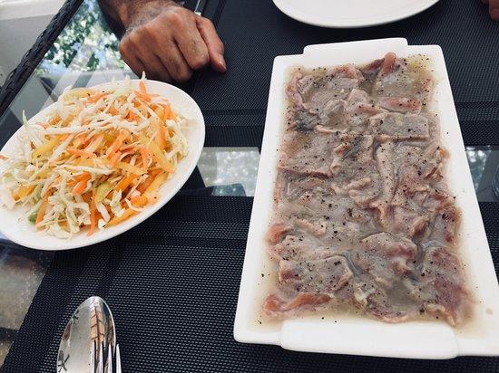 Mahibadhoo Island: tuna carpacio
