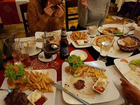 Chips or french fries pizza spaghetti steaks lamb wine etc picture of les jardins de la - Les jardins de la carambole ...