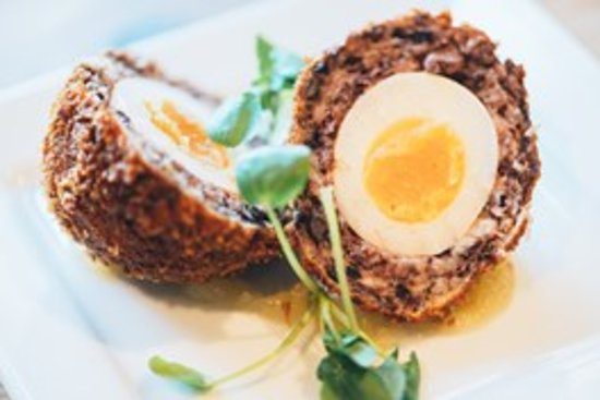 Oaksey, UK: Homemade Pork and Black Pudding Scotch Egg