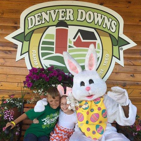 Anderson, Carolina del Sur: Easter Egg Hunt- Bunny and kids