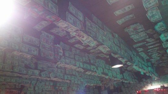 Dahlonega, GA: Dollar bills everywhere.