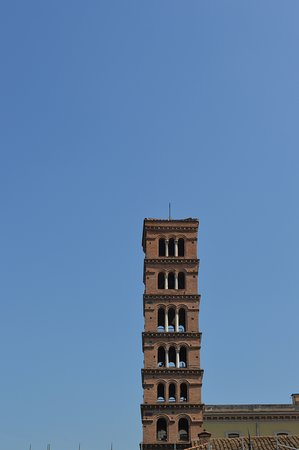 Basilica di Santa Maria in Cosmedin: The bell tower - the highest Medieval belfry in Rome