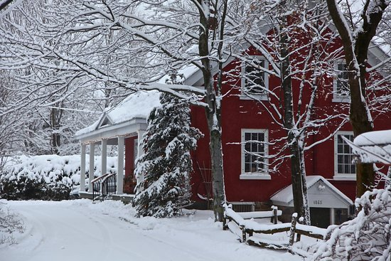 Cowansville, Kanada: Winter approach