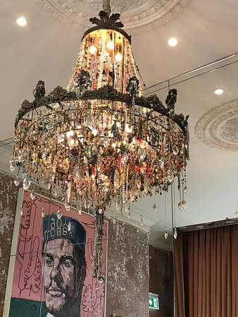 The chandelier of lost earrings in the lobby. - Picture of No.15 ...