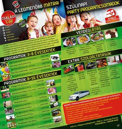 szülinapi programok 10 éveseknek Szülinapi partyk   High Tech Sports Base 1, Mátrafüred fényképe  szülinapi programok 10 éveseknek