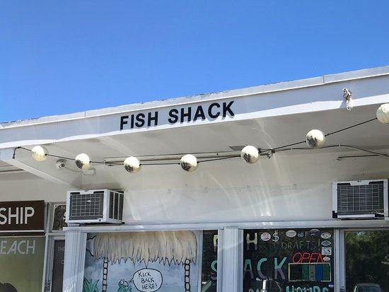 Fish Shack: Exterior with only a small sign