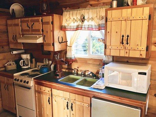 tamarack rv park and vacation cabins kitchen in the cowboy cabin - Cowboy Kitchen