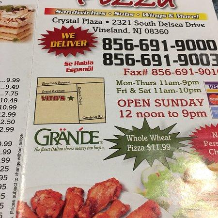 Vineland, Νιού Τζέρσεϊ: Vito's Pizza