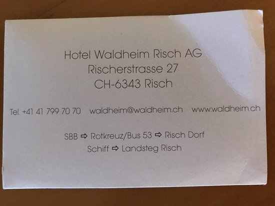 Risch, Switzerland: Detalles de contacto