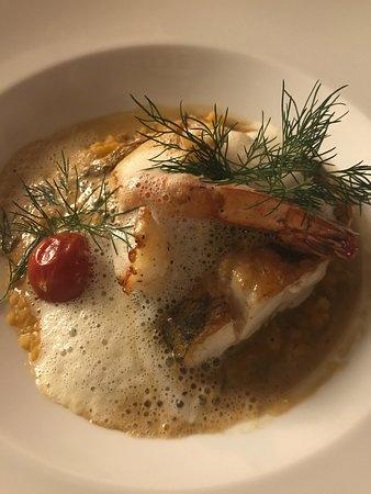 Risch, Switzerland: Lubina al horno con risotto