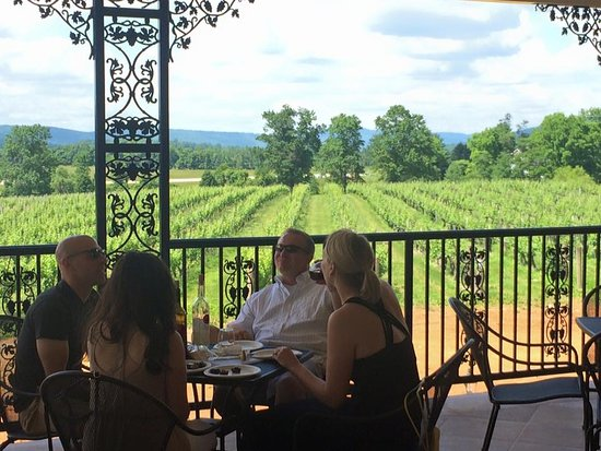 The orleans porch picture of breaux vineyards purcellville